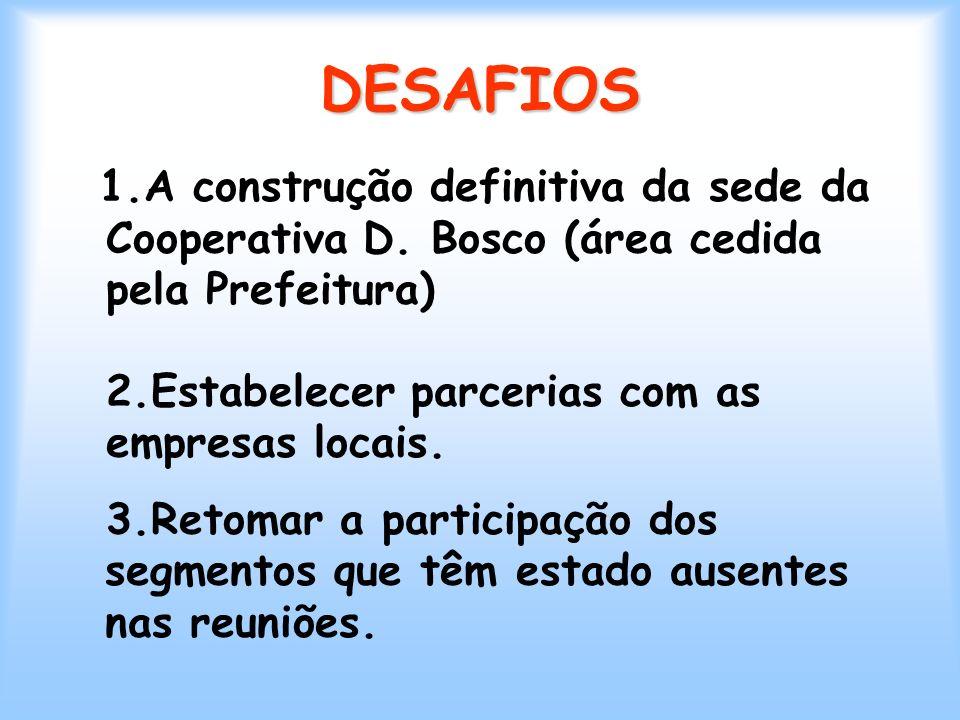 1.A construção definitiva da sede da Cooperativa D.