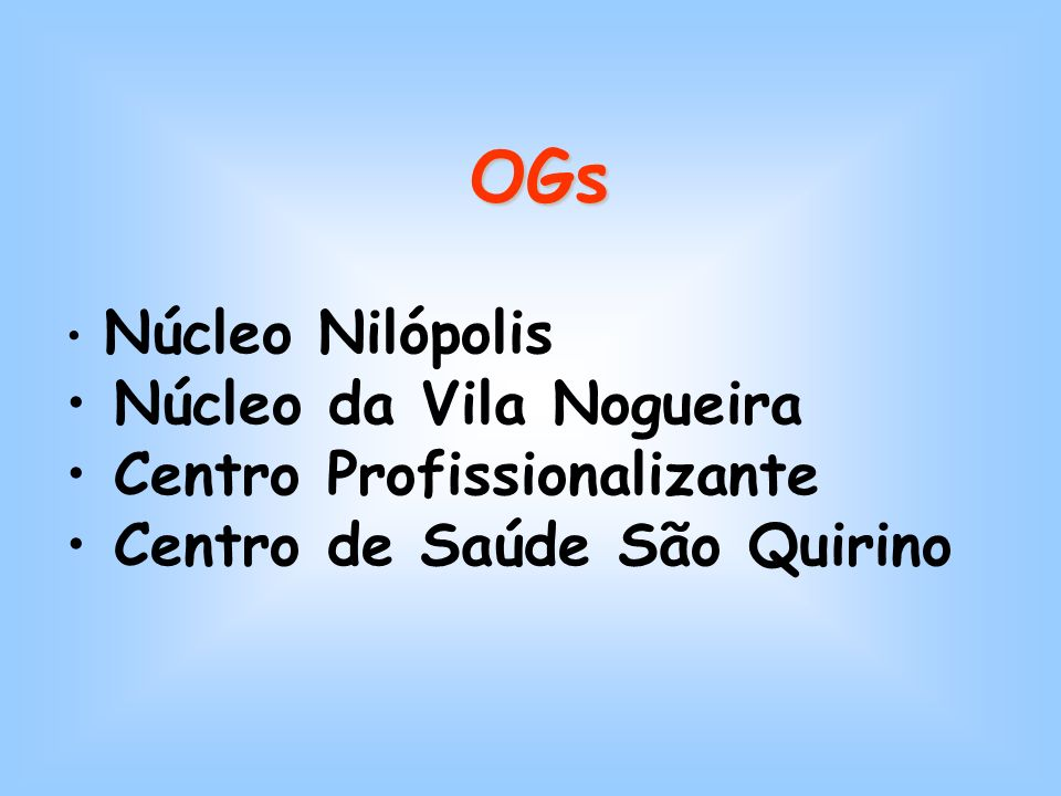 ONGs SETA Fundação Bezerra de Menezes ANA Centro Corsini