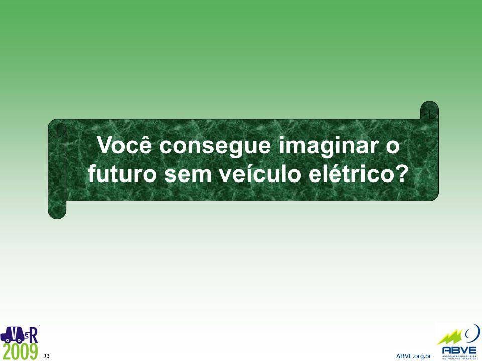 ABVE.org.br 32 Você consegue imaginar o futuro sem veículo elétrico?
