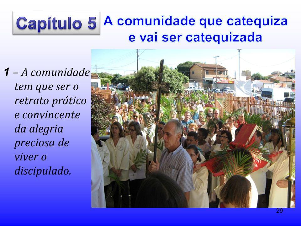 29 1 – A comunidade tem que ser o retrato prático e convincente da alegria preciosa de viver o discipulado.