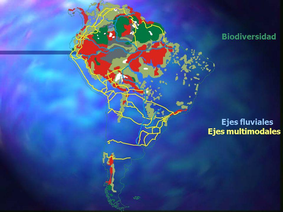 Biodiversidad Ejes multimodales Ejes fluviales