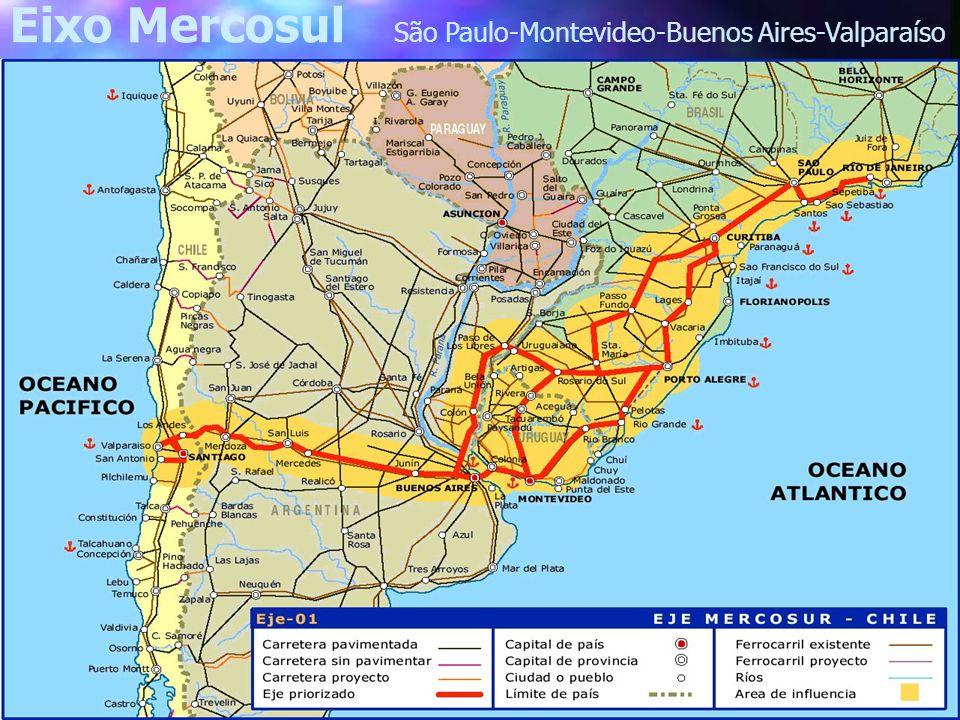 Eixo Mercosul São Paulo-Montevideo-Buenos Aires-Valparaíso
