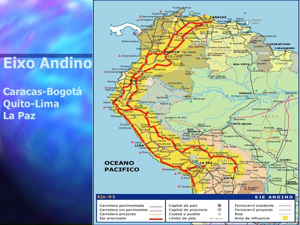Eixo Andino Caracas-Bogotá Quito-Lima La Paz