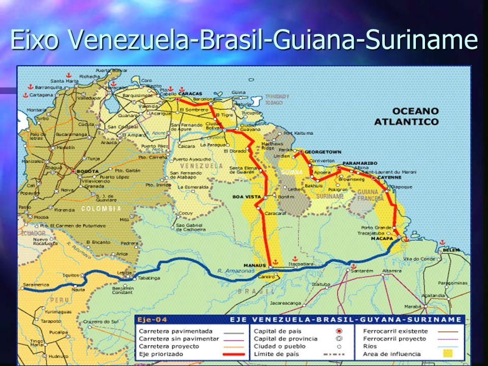 Eixo Venezuela-Brasil-Guiana-Suriname