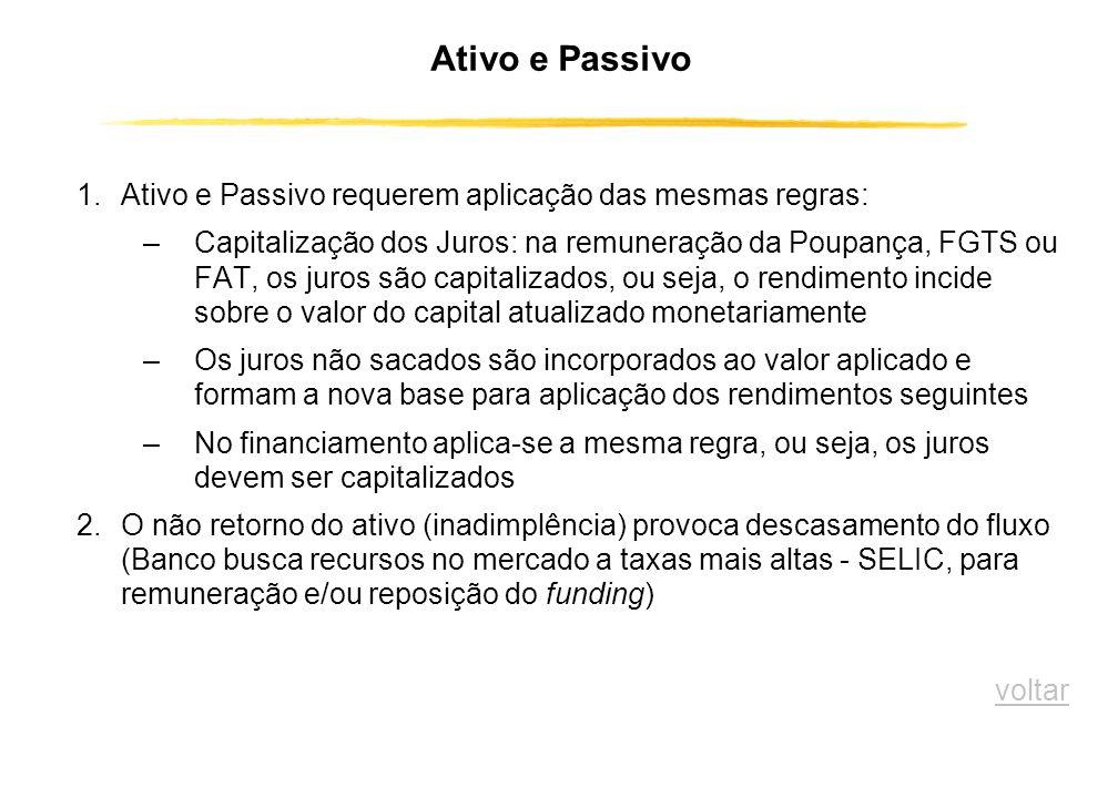 Fluxo da Captação e da Aplicação dos Recursos BANCO POUPADOR Rendimentos Encargos financeiros Intermediação Financeira MUTUÁRIO