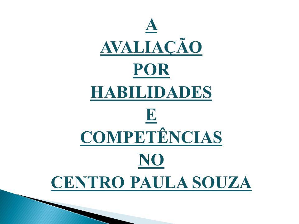 A AVALIAÇÃO POR HABILIDADES E COMPETÊNCIAS NO CENTRO PAULA SOUZA