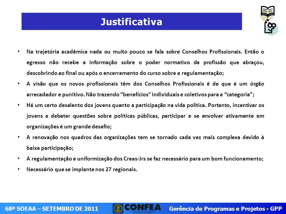 Gerência de Programas e Projetos - GPP 68ª SOEAA – SETEMBRO DE 2011 Crea-PI I Copa Crea-Jr-PI de Futsal