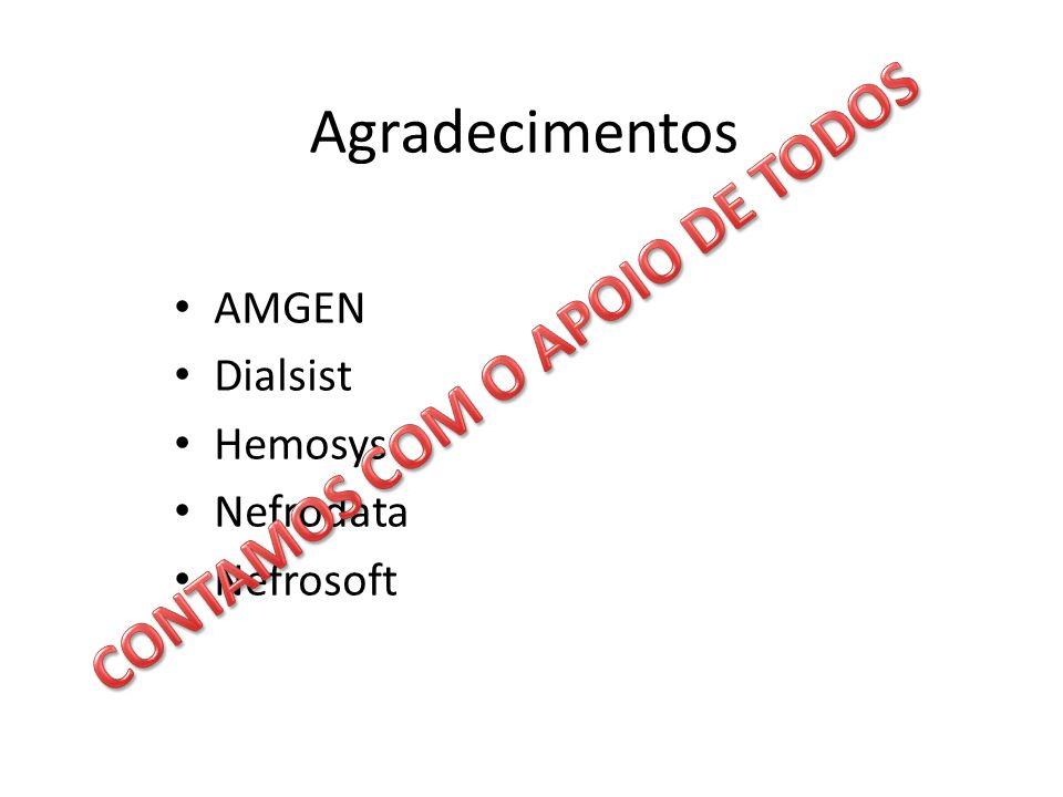 Agradecimentos AMGEN Dialsist Hemosys Nefrodata Nefrosoft