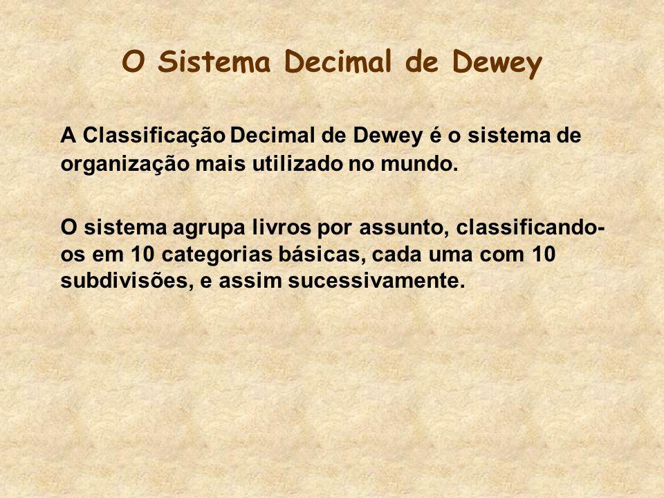 O Processo Criativo de Dewey Para classificar esses assuntos, ele se imaginou um homem das cavernas.