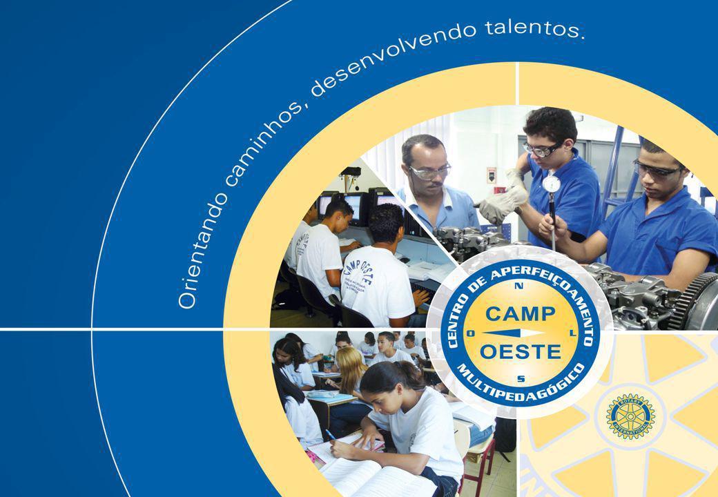 NOSSA HISTÓRIA O Centro de Aperfeiçoamento Multi-Pedagógico, CAMP OESTE, é uma entidade sem fins lucrativos, fundada em 09 de fevereiro de 1983 e administrada por membros dos Rotary Cubes de São Paulo: Oeste, Lapa, Perdizes e Sumaré.