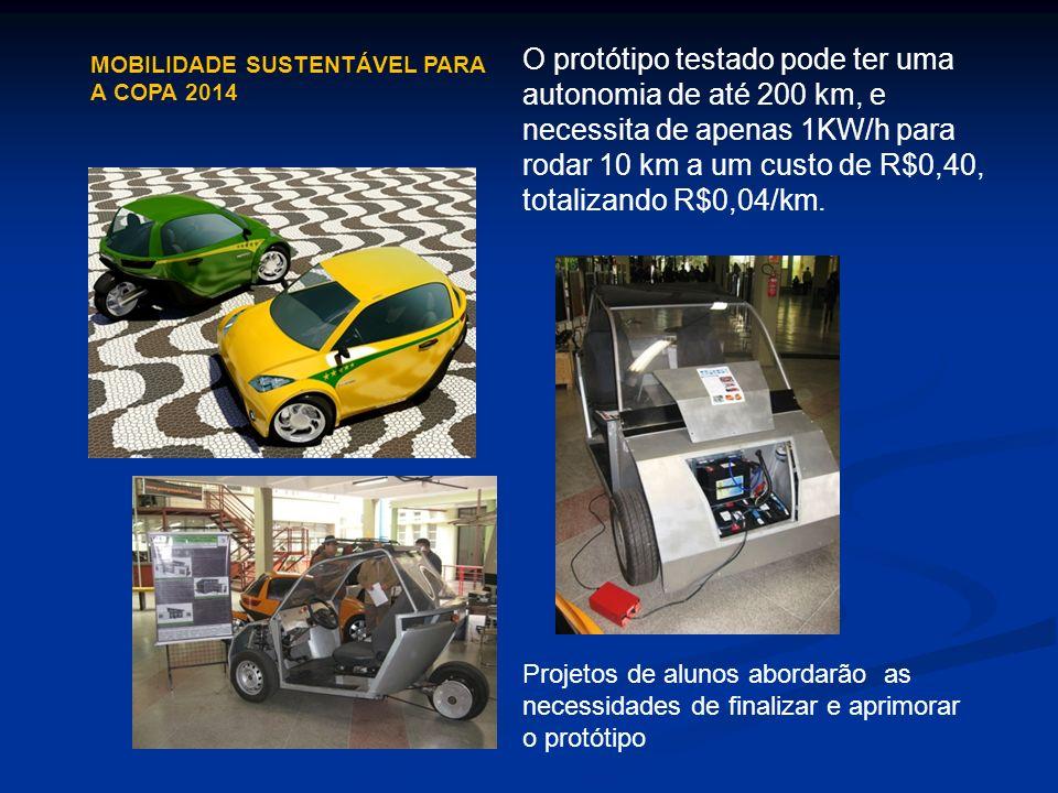 O protótipo testado pode ter uma autonomia de até 200 km, e necessita de apenas 1KW/h para rodar 10 km a um custo de R$0,40, totalizando R$0,04/km. Pr