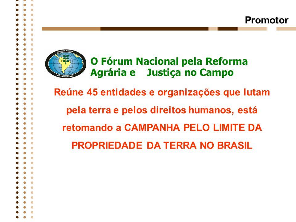 Campanha pelo Limite da Propriedade da Terra Em defesa da reforma agrária e soberania territorial e alimentar