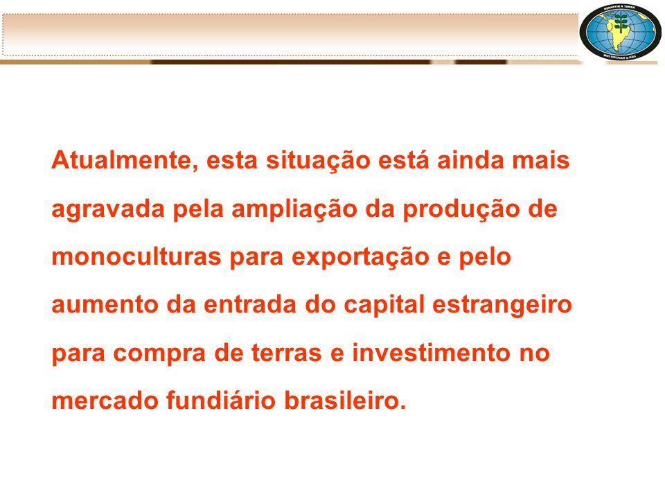No Brasil, 4,8 milhões estabelecimentos agrícolas ocupam 353,6 milhões de hectares. Destes, os minifúndios e as pequenas propriedades(- 100 hectares)
