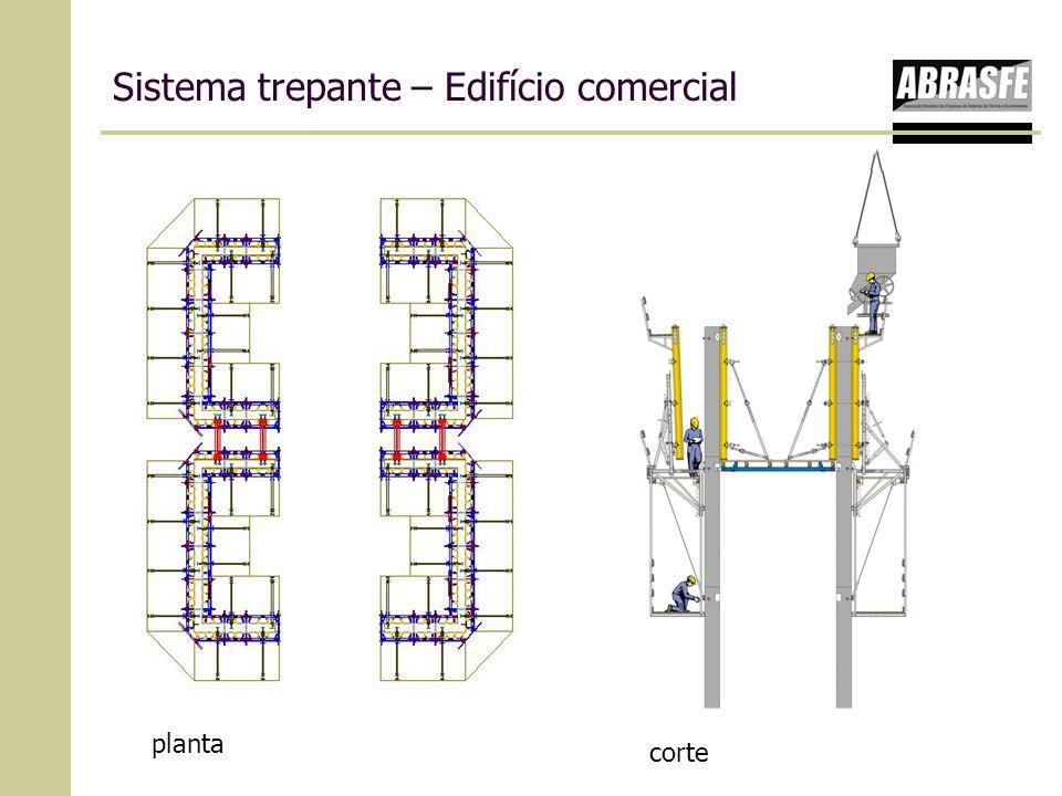 Sistema trepante – Edifício comercial planta corte