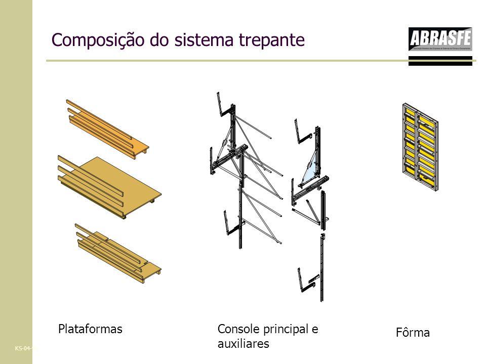 Tipos de fôrmas que podem ser acopladas Painéis com vigas industrializadas de madeira Painéis modulares