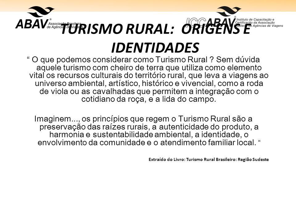 TURISMO RURAL: ORIGENS E IDENTIDADES O que podemos considerar como Turismo Rural .