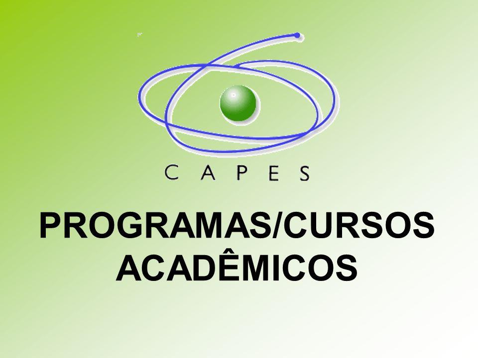 PROGRAMAS/CURSOS ACADÊMICOS