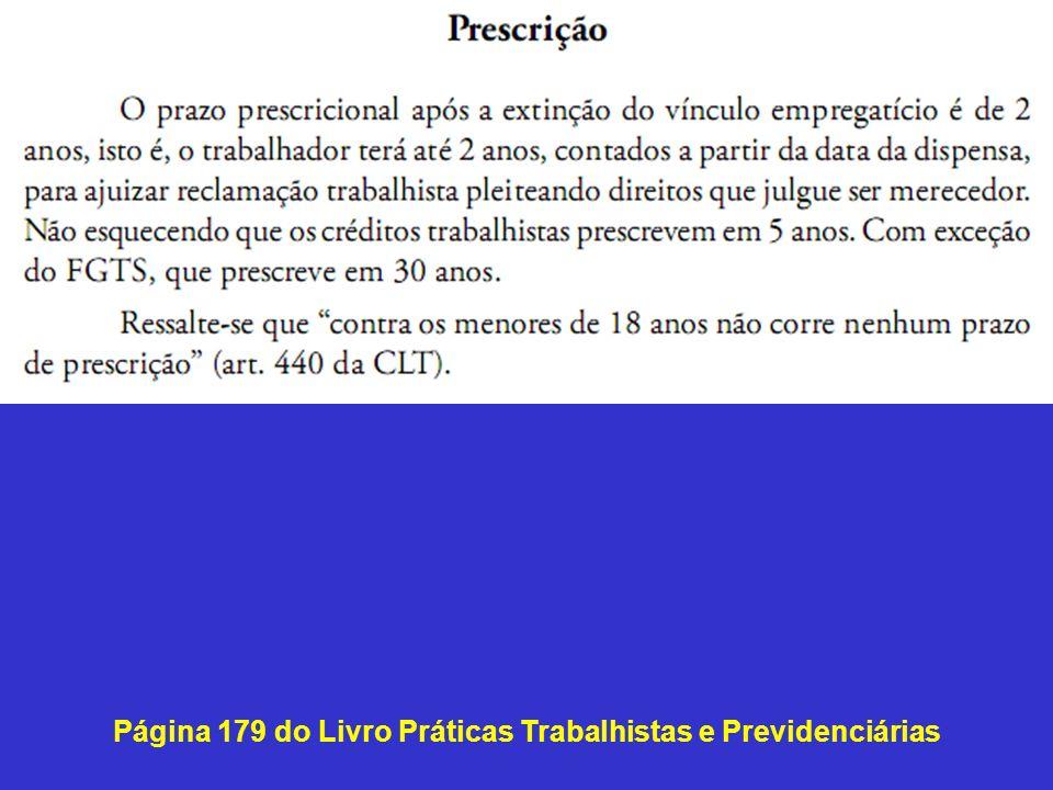 Página 179 do Livro Práticas Trabalhistas e Previdenciárias