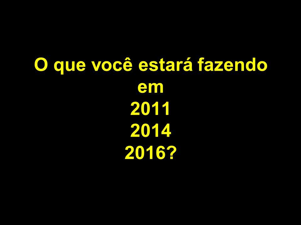 O que você estará fazendo em 2011 2014 2016?