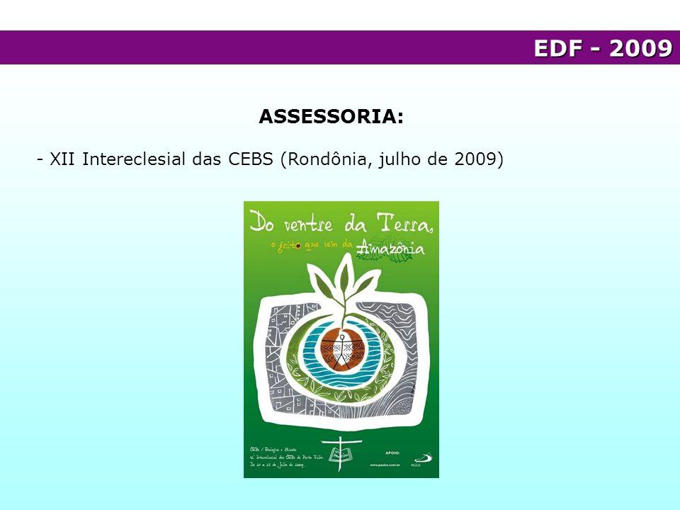 EDF - 2009 ASSESSORIA: - XII Intereclesial das CEBS (Rondônia, julho de 2009)