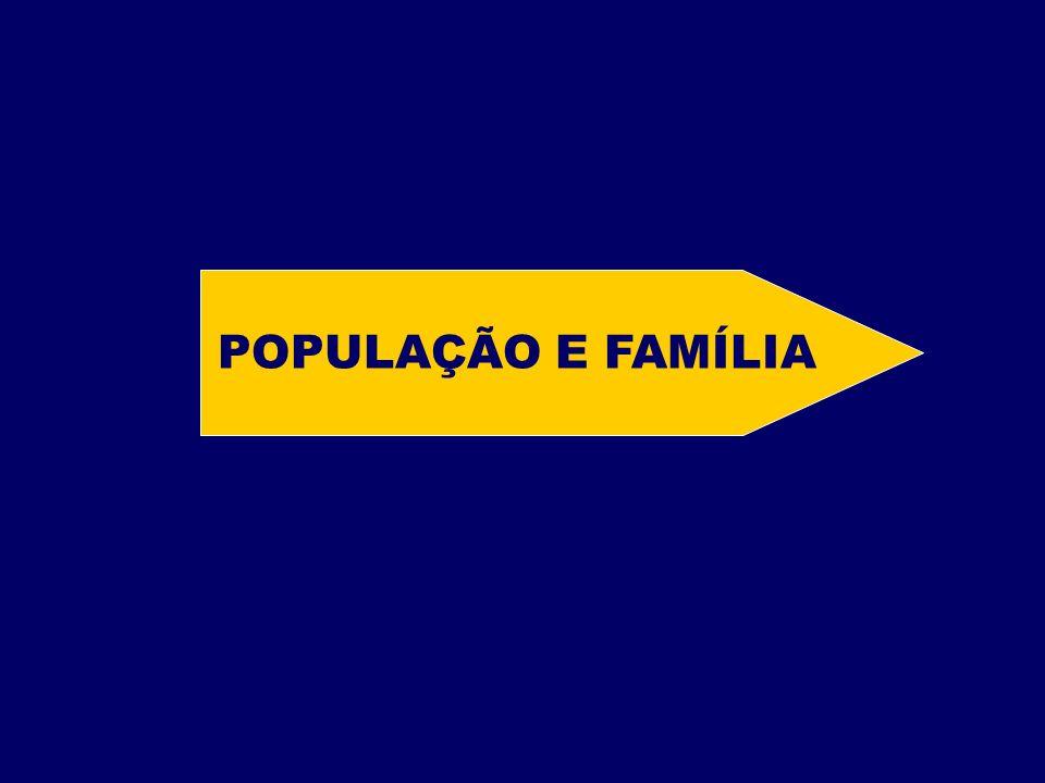 POPULAÇÃO E FAMÍLIA