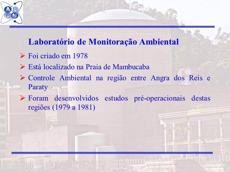26 Laboratório de Monitoração Ambiental Foi criado em 1978 Está localizado na Praia de Mambucaba Controle Ambiental na região entre Angra dos Reis e P