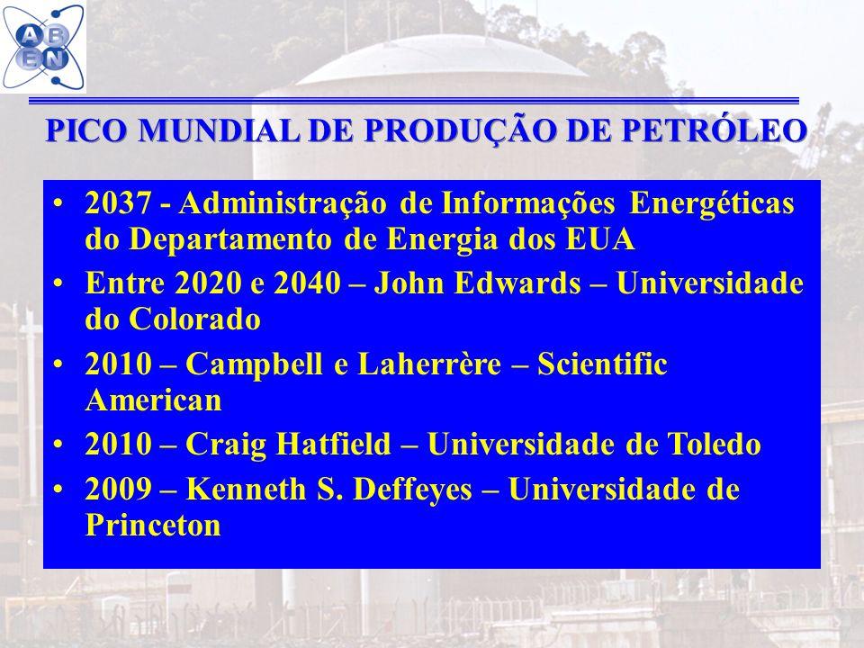 33 2037 - Administração de Informações Energéticas do Departamento de Energia dos EUA Entre 2020 e 2040 – John Edwards – Universidade do Colorado 2010