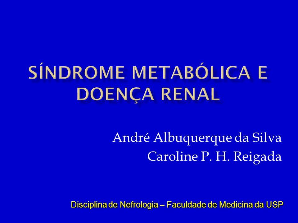 André Albuquerque da Silva Caroline P. H. Reigada Disciplina de Nefrologia – Faculdade de Medicina da USP Disciplina de Nefrologia – Faculdade de Medi