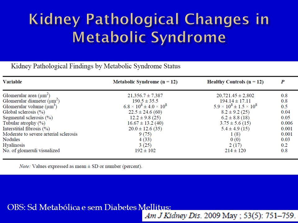 OBS: Sd Metabólica e sem Diabetes Mellitus;