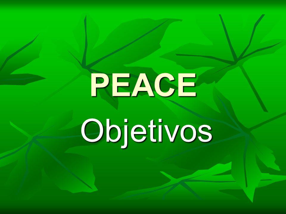PEACE Objetivos