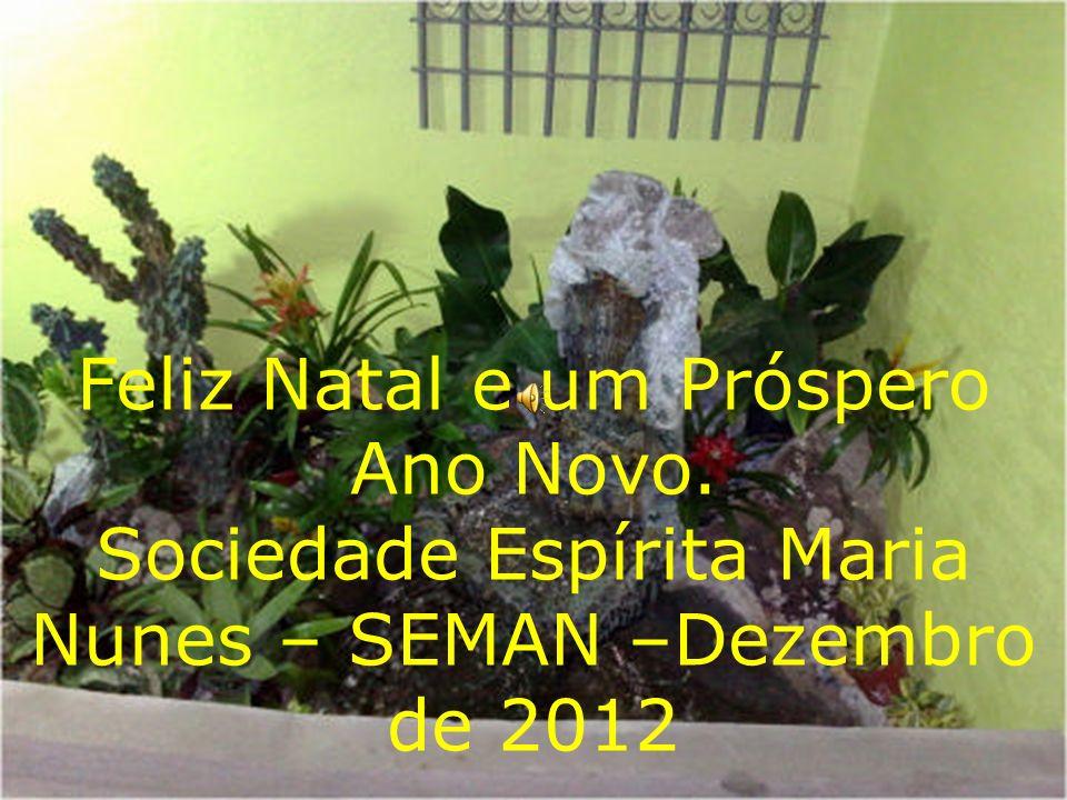 Feliz Natal e um Próspero Ano Novo. Sociedade Espírita Maria Nunes – SEMAN –Dezembro de 2012