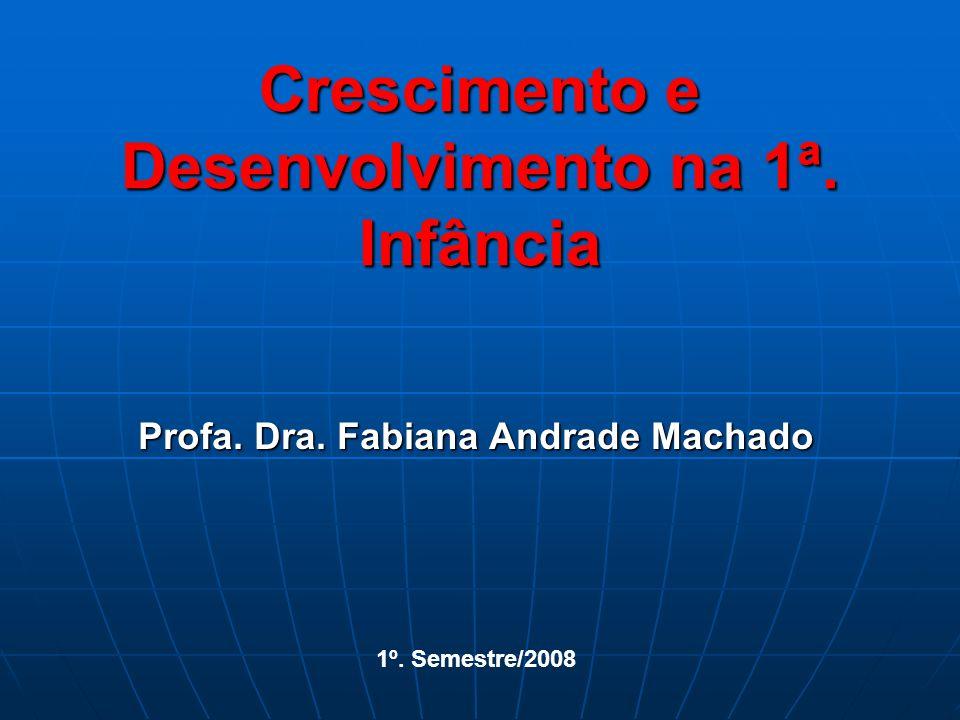 Crescimento e Desenvolvimento na 1ª. Infância Profa. Dra. Fabiana Andrade Machado 1º. Semestre/2008