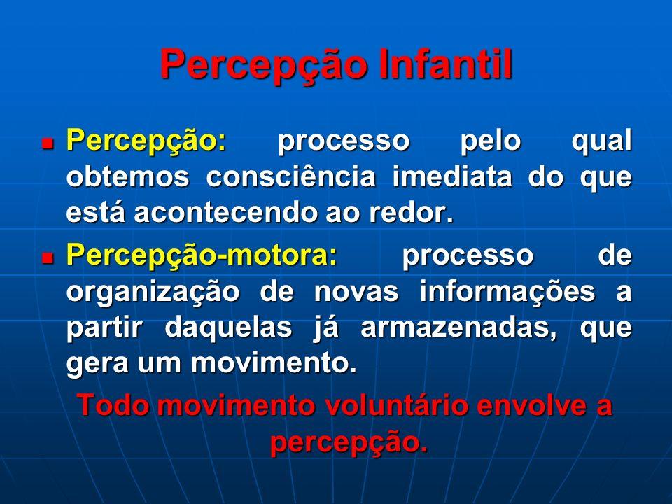 Percepção Infantil Percepção: processo pelo qual obtemos consciência imediata do que está acontecendo ao redor. Percepção: processo pelo qual obtemos