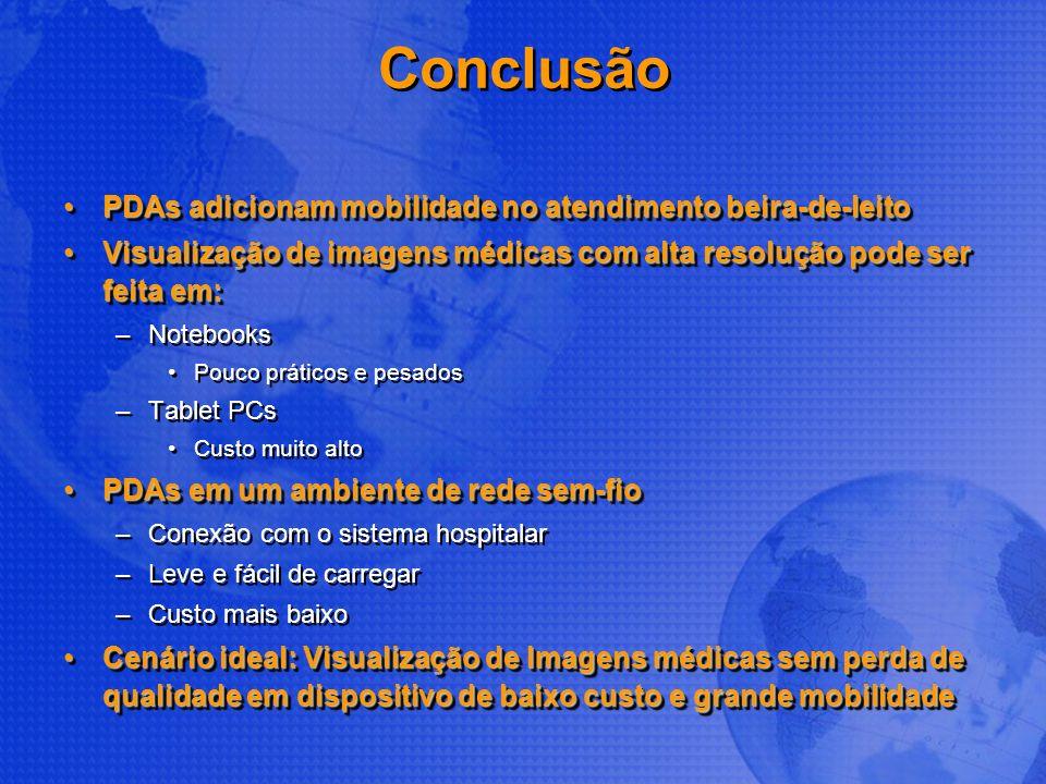 Conclusão PDAs adicionam mobilidade no atendimento beira-de-leitoPDAs adicionam mobilidade no atendimento beira-de-leito Visualização de imagens médic