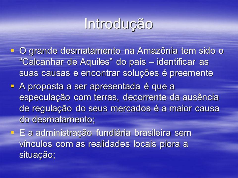 Introdução O grande desmatamento na Amazônia tem sido o Calcanhar de Aquiles do país – identificar as suas causas e encontrar soluções é preemente O g