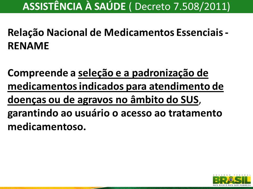 A RENAME é composta por: I – Rel.Nac. de Med. do Comp.