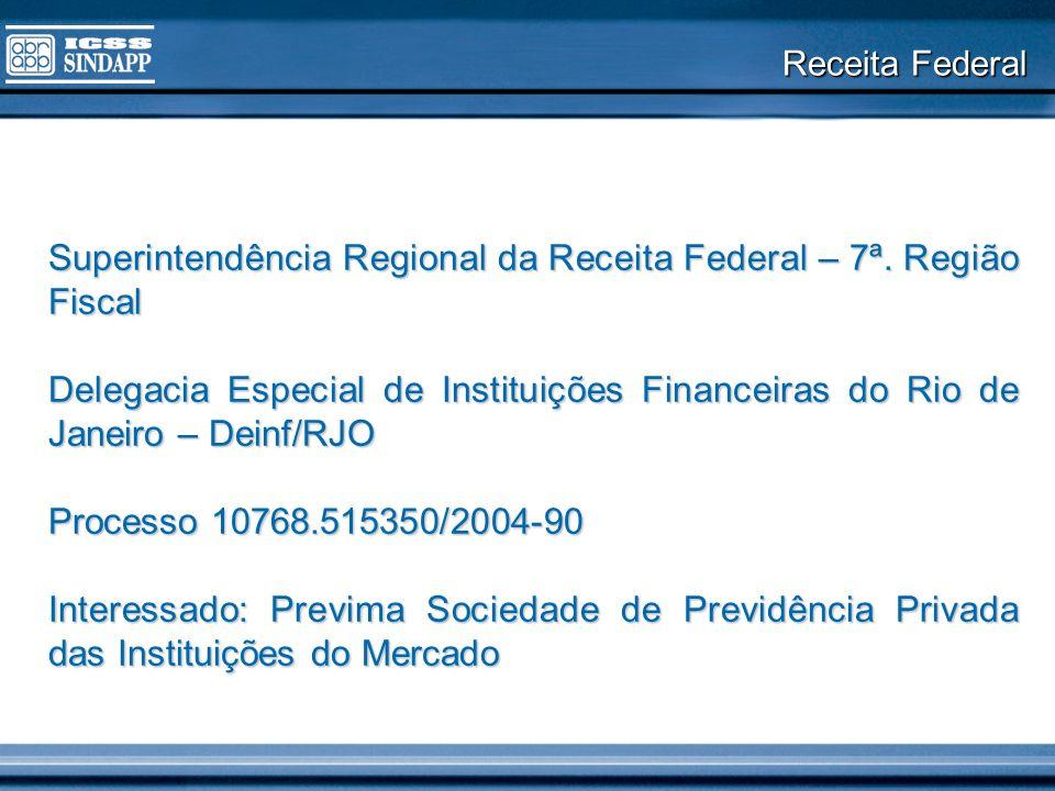 Receita Federal Superintendência Regional da Receita Federal – 7ª. Região Fiscal Delegacia Especial de Instituições Financeiras do Rio de Janeiro – De