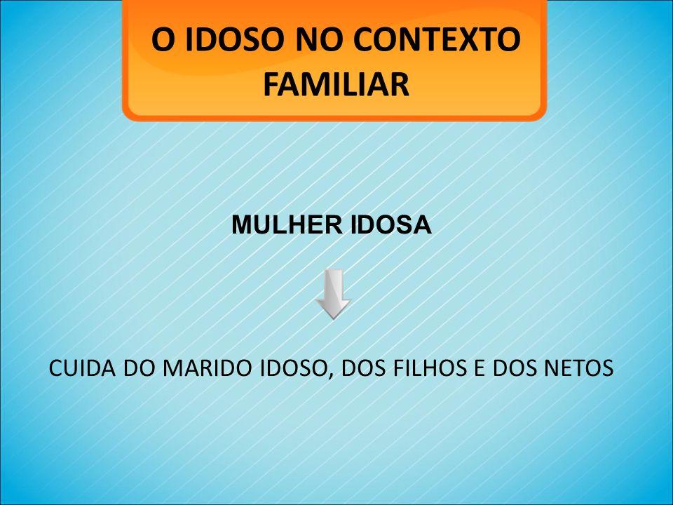 O IDOSO NO CONTEXTO FAMILIAR MULHER IDOSA CUIDA DO MARIDO IDOSO, DOS FILHOS E DOS NETOS