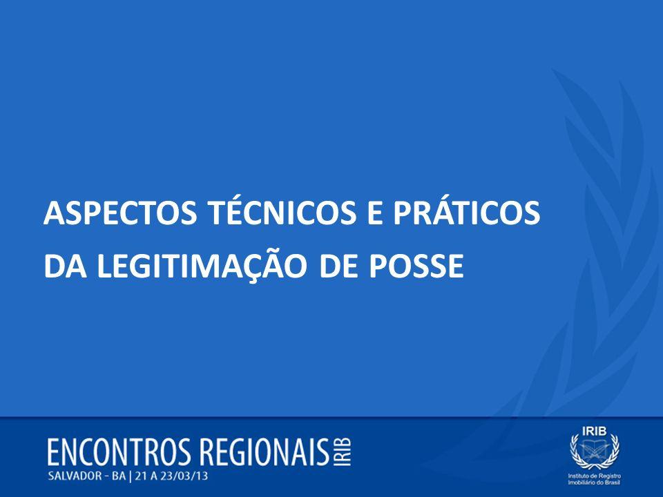 ASPECTOS TÉCNICOS E PRÁTICOS DA LEGITIMAÇÃO DE POSSE