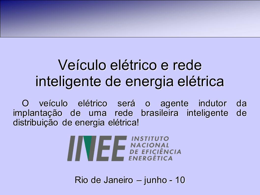 Veículo elétrico e rede inteligente de energia elétrica O veículo elétrico será o agente indutor da implantação de uma rede brasileira inteligente de distribuição de energia elétrica.