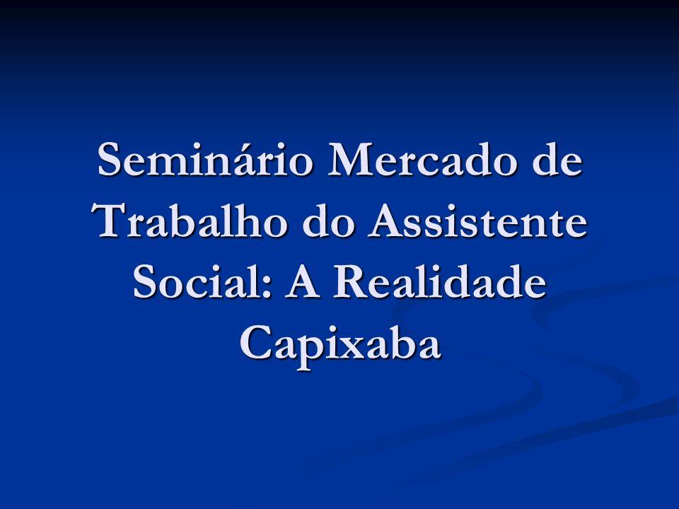 Seminário Mercado de Trabalho do Assistente Social: A Realidade Capixaba