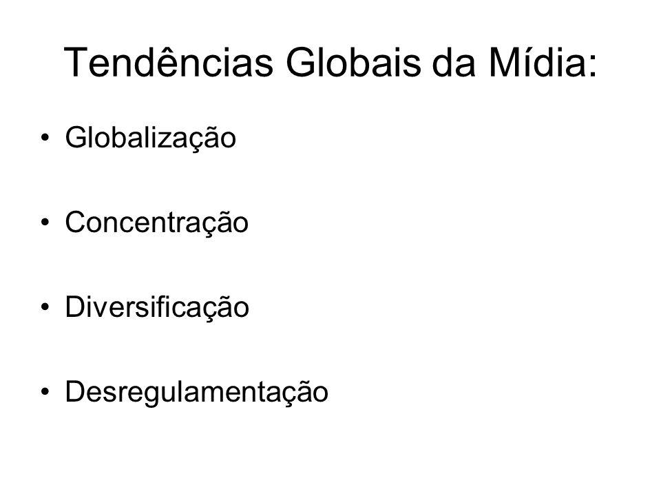 Tendências Globais da Mídia: Globalização Concentração Diversificação Desregulamentação