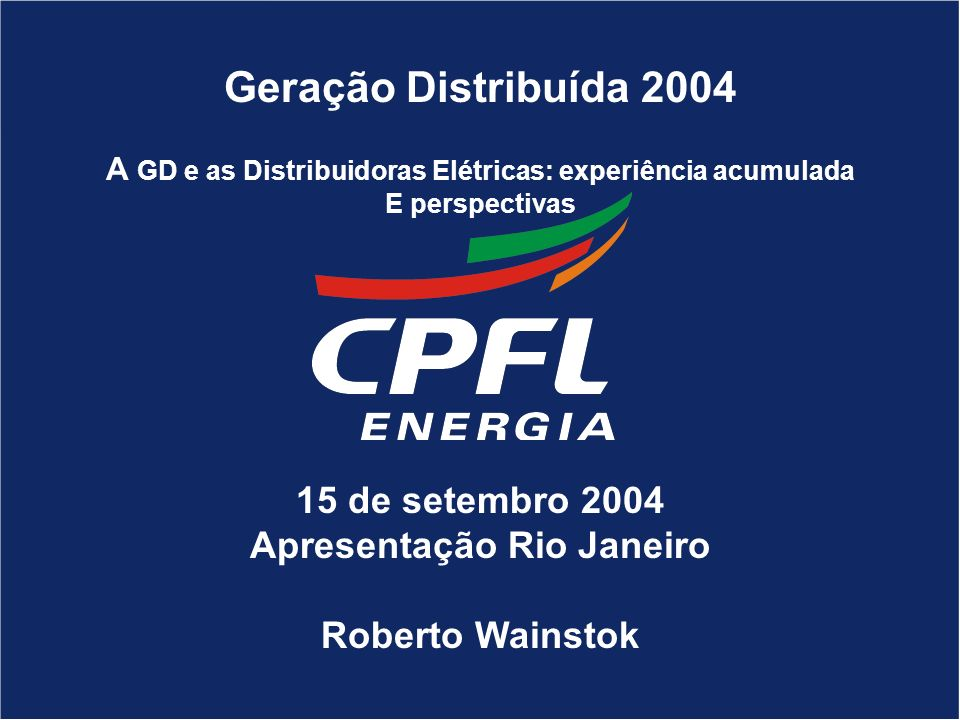 AGENDA A - REORGANIZAÇÃO SOCIETÁRIA B - NOVA ESTRUTURA ORGANIZACIONAL C - APRESENTAÇÃO DOS NOVOS DIRIGENTES D -IDENTIDADE VISUAL A GD e as Distribuido