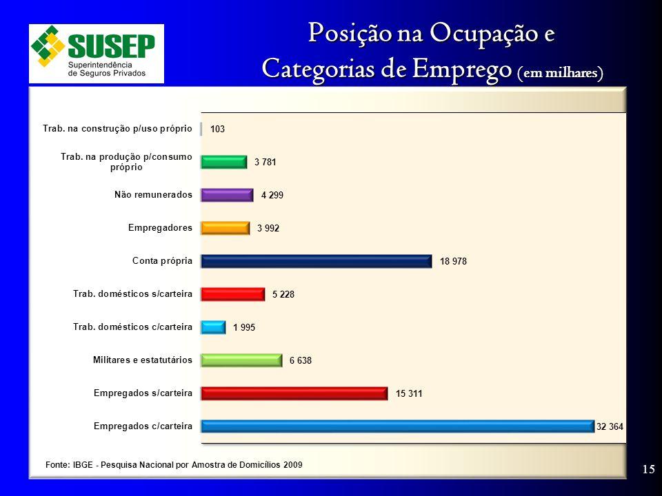 Posição na Ocupação e Categorias de Emprego (em milhares) 15