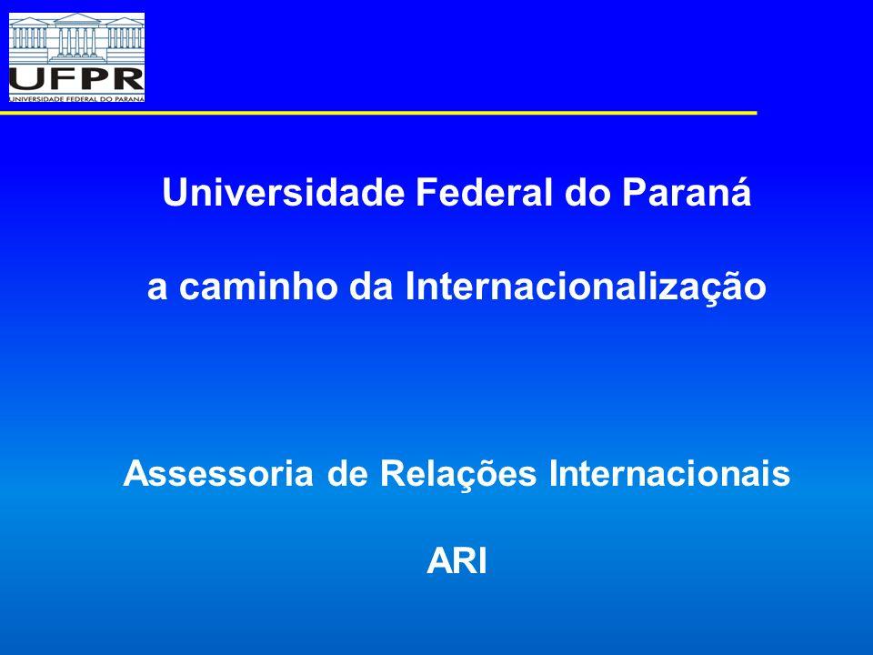 Universidade Federal do Paraná a caminho da Internacionalização Assessoria de Relações Internacionais ARI