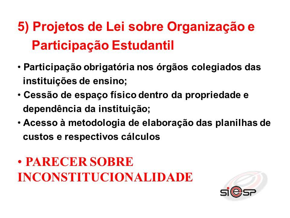 6) Conselho Nacional de Educação Deixaram de fora as federações dos trabalhadores e as patronais (Confederação e federações).