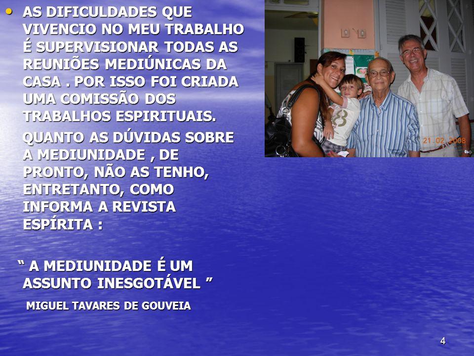 35 NÃO TEM PADRÃO RÍGIDO - ORIENTAÇÃO BÁSICA, NÃO TEM PADRÃO RÍGIDO - ORIENTAÇÃO BÁSICA, UNIVERSALIDADE DOS ENSINOS DOS ESPÍRITOS UNIVERSALIDADE DOS ENSINOS DOS ESPÍRITOS MÉDIUNS PASSISTAS – ORIENTAÇÃO DAS OBRAS DE ANDRÉ LUIZ E MANOEL PHILOMENO DE MIRANDA MÉDIUNS PASSISTAS – ORIENTAÇÃO DAS OBRAS DE ANDRÉ LUIZ E MANOEL PHILOMENO DE MIRANDA ESCLARECEDOR ---- DOUTRINADOR ESCLARECEDOR ---- DOUTRINADOR EQUIPE IDEAL - 25% ESCLARECEDOR, EQUIPE IDEAL - 25% ESCLARECEDOR, - 25% PASSISTAS - 25% PASSISTAS - 50 % MÉDIUNS OSTENSIVOS - 50 % MÉDIUNS OSTENSIVOS QUANTIDADE – LIVRO DESOBSESSÃO – MÁXIMO 14, QUANTIDADE – LIVRO DESOBSESSÃO – MÁXIMO 14,