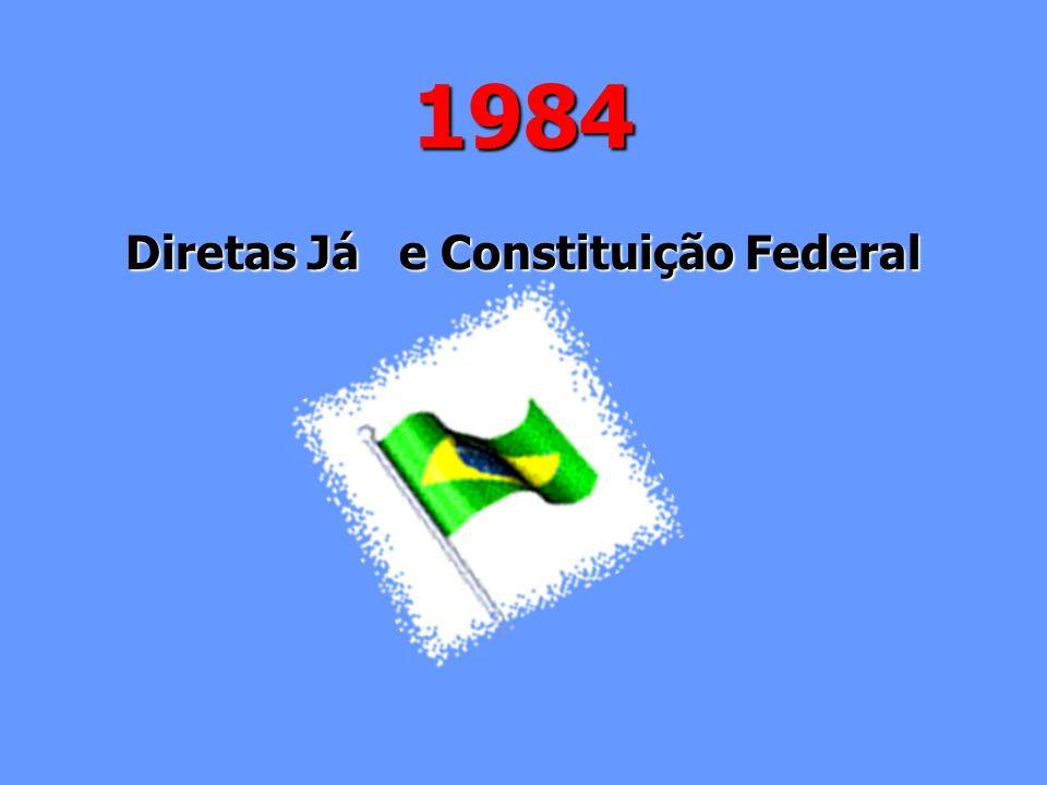 1984 Diretas Já e Constituição Federal