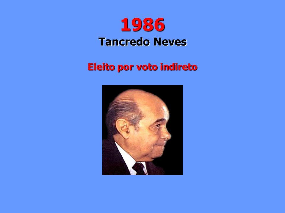 1986 Tancredo Neves Eleito por voto indireto