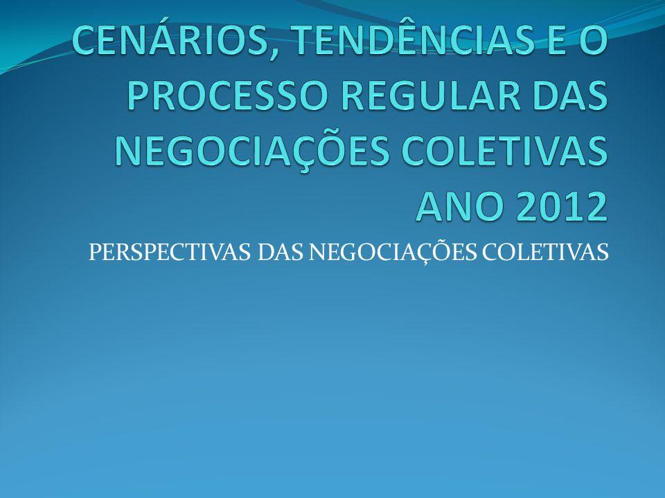 VARIÁVEIS QUE INTERFEREM NO PROCESSO NEGOCIAL CENÁRIO ECONÔMICO CONJUNTURAL APRESENTAÇÃO DO DEPARTAMENTO DE PESQUISAS E ESTUDOS ECONÔMICOS - FIESP NEGOCIAÇÕES NO PRIMEIRO SEMESTRE FORTE INFLUÊNCIA DOS SETORES LIGADOS A CONSTRUÇÃO CIVIL IMPACTO POSITIVO DE ALGUMAS MEDIDAS DA ÁREA ECONÔMICA PARA SEGURAR AS VENDAS NO VAREJO DEMANDA POR MÃO DE OBRA, AINDA AQUECIDA